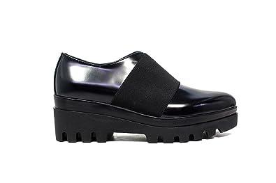Janet Sport francesina donna con zeppa bassa 38789 scarpa lego nero nero f  256 nuova collezione autunno inverno 2016 2017 nuova collezione autunno  inverno ... ace547459e7