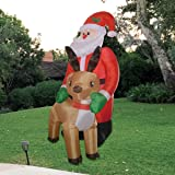 GOOSH 8Foot Christmas Inflatable Santa Claus with