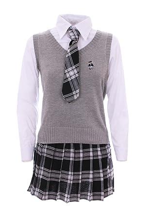 taille 7 acheter réel vraiment à l'aise JapanAttitude Tenue écolière Japonaise Grise, Blanche + ...