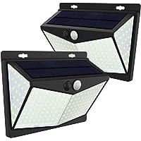 JIM'S STORE Luz Solar Exterior 208LED, Lámpara Solar con Sensor de Movimiento Impermeable 65 Gran Ángulo 270º de…