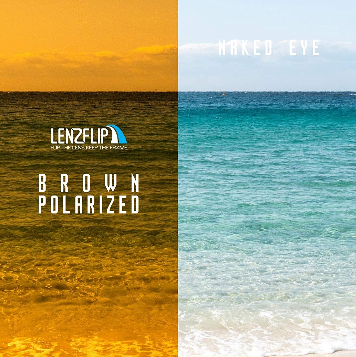 20d0d414546b2 Amazon.com  LenzFlip Replacement Lenses Compatible with Costa del Mar MAG  BAY - Brown  Clothing