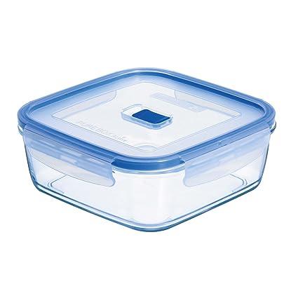 Luminarc Pure Box Active - Recipiente hermético de Vidrio, Cuadrado, tamaño 2,5