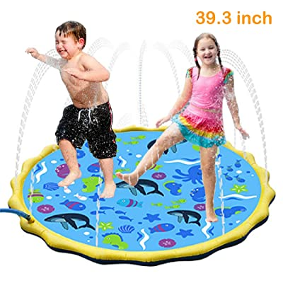 XZR Sprinkler Play Mat for Kids,Sprinkler Water Toys for Toddlers ,Water Spray Game Pad, Inflatable Outdoor Water Toys Splash Play Mat (39.3 in.): Toys & Games [5Bkhe0301982]