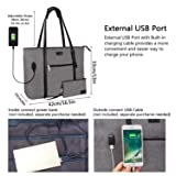 Laptop Tote Bag, Large Women Work Bag Purse USB