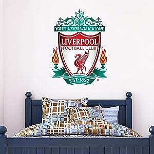 Beautiful Game Ltd Official Liverpool Football Club Official Crest Sticker + LFC Decal Set Vinyl Poster Print Mural (90cm Height)