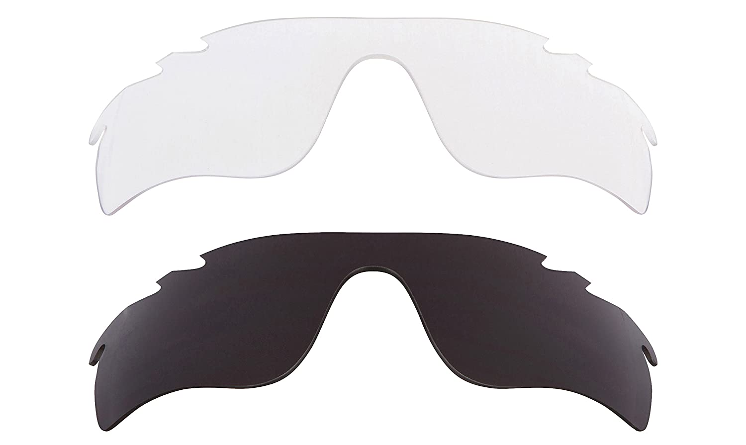 d99580a7f9ed Vented Radarlock Path Replacement Lenses Black Crystal Clear by SEEK fits OAKLEY  at Amazon Men s Clothing store