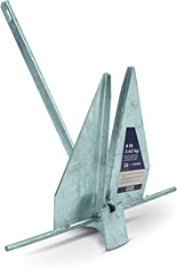 Five Oceans Hot Dipped Galvanized Traditional Danforth Style Fluke Anchor, 4, 8, 10, 16 LBS