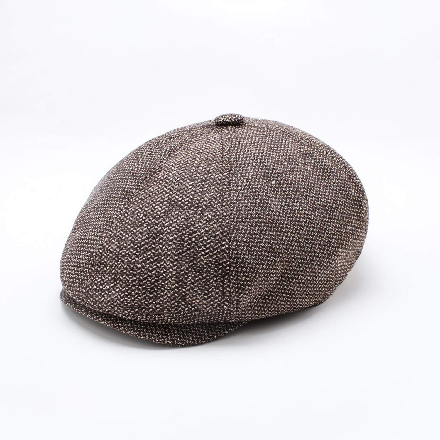 e92dc03461e25 Sivane Man Octagonal Hat Wool Felt Beret Casual Painter Cap Autumn and Winter  Ivy Hat Male Fitted Newsboy Cap at Amazon Men s Clothing store