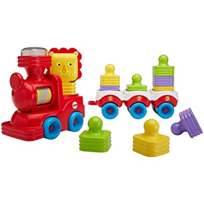 Fisher-Price Little Stackers Lion Locomotive: Toys & Games
