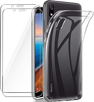 Meeter Funda Xiaomi Redmi 7A + 2 x Protector de Pantalla Xiaomi ...