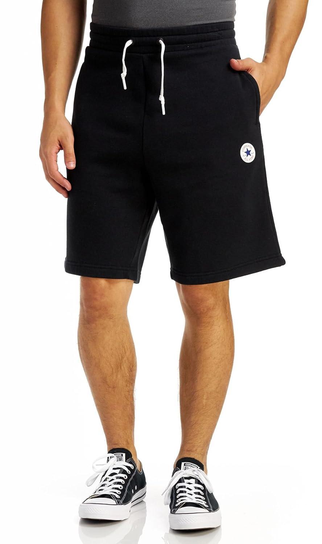 Converse Homme Short de jogging Core, Noir, Large: