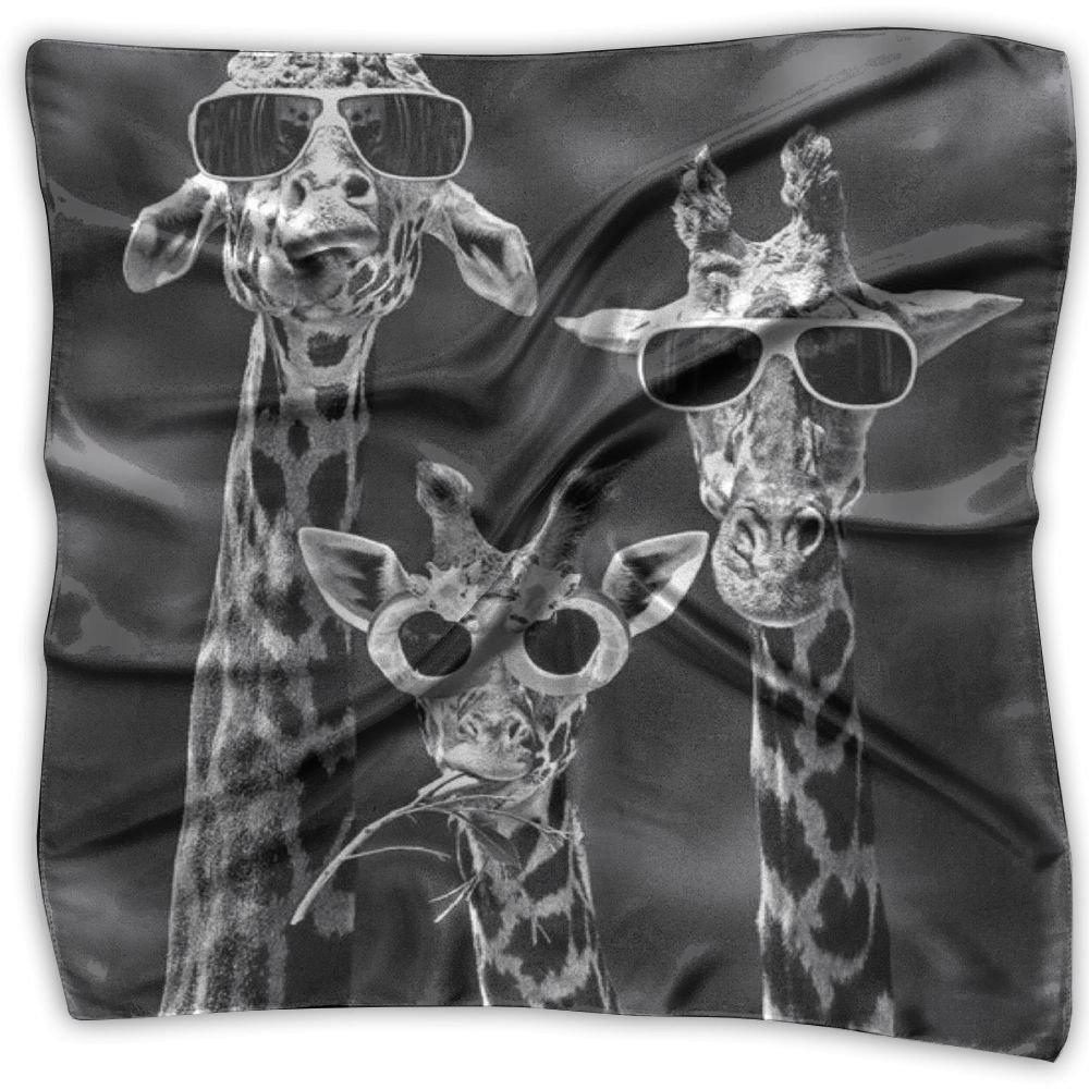 Sunglass Giraffes Women's Square Scarf Headdress Fashion Neckerchief