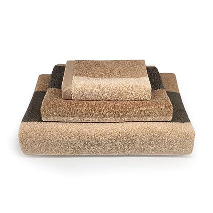 zhenxinmei Juego de toallas, 3 Pack algodón Premium juego de toallas toallas de rayas de amante ...