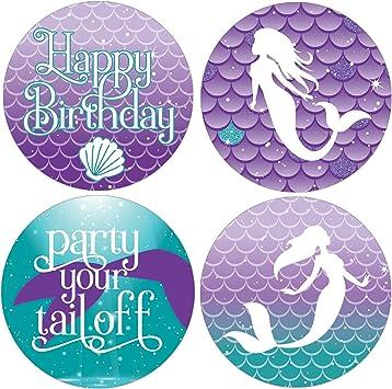 Amazon.com: Etiquetas de felicitación de cumpleaños para ...