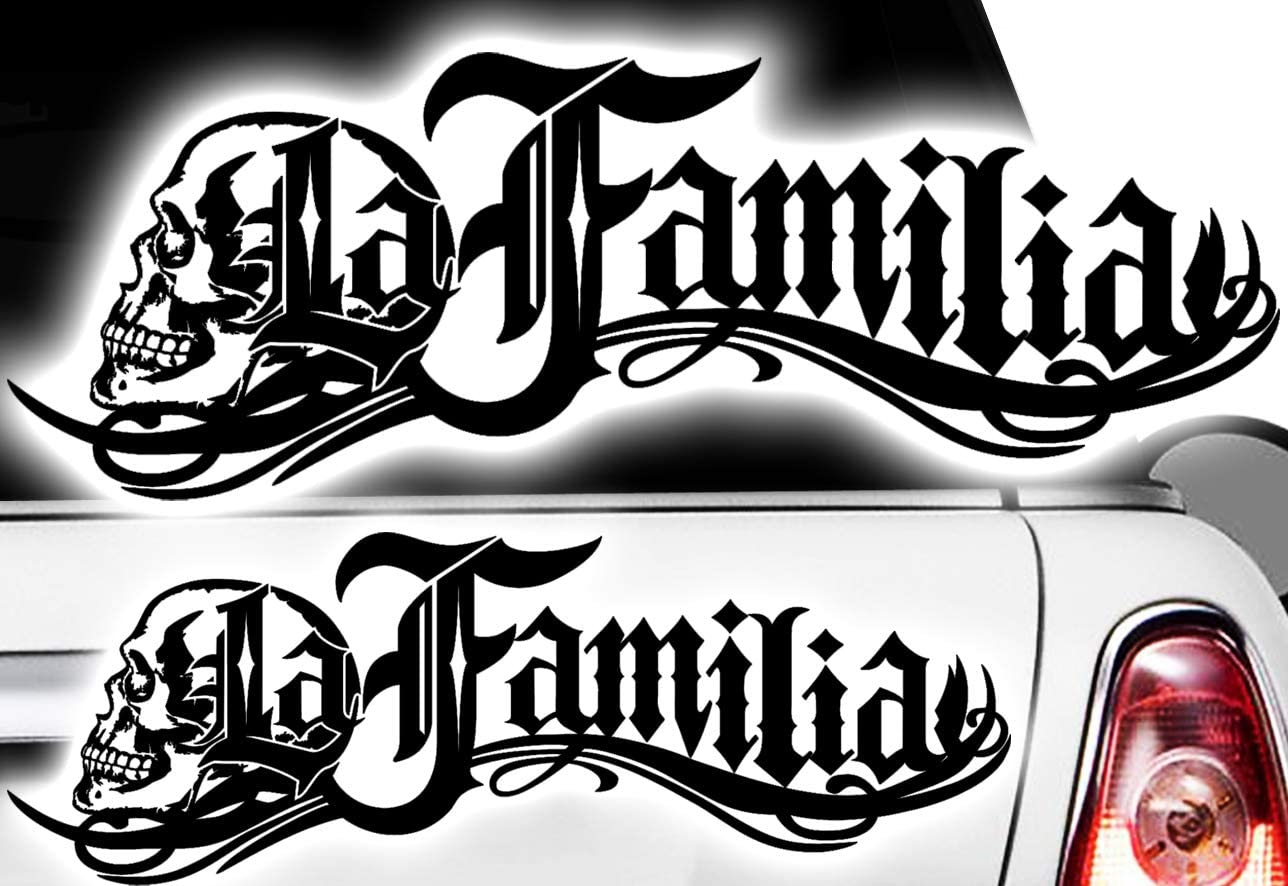 Hr Werbedesign 1x La Familia 60cm Oldschool Frontscheibenaufkleber Auto Motorrad Aufkleber Hardcore Auto