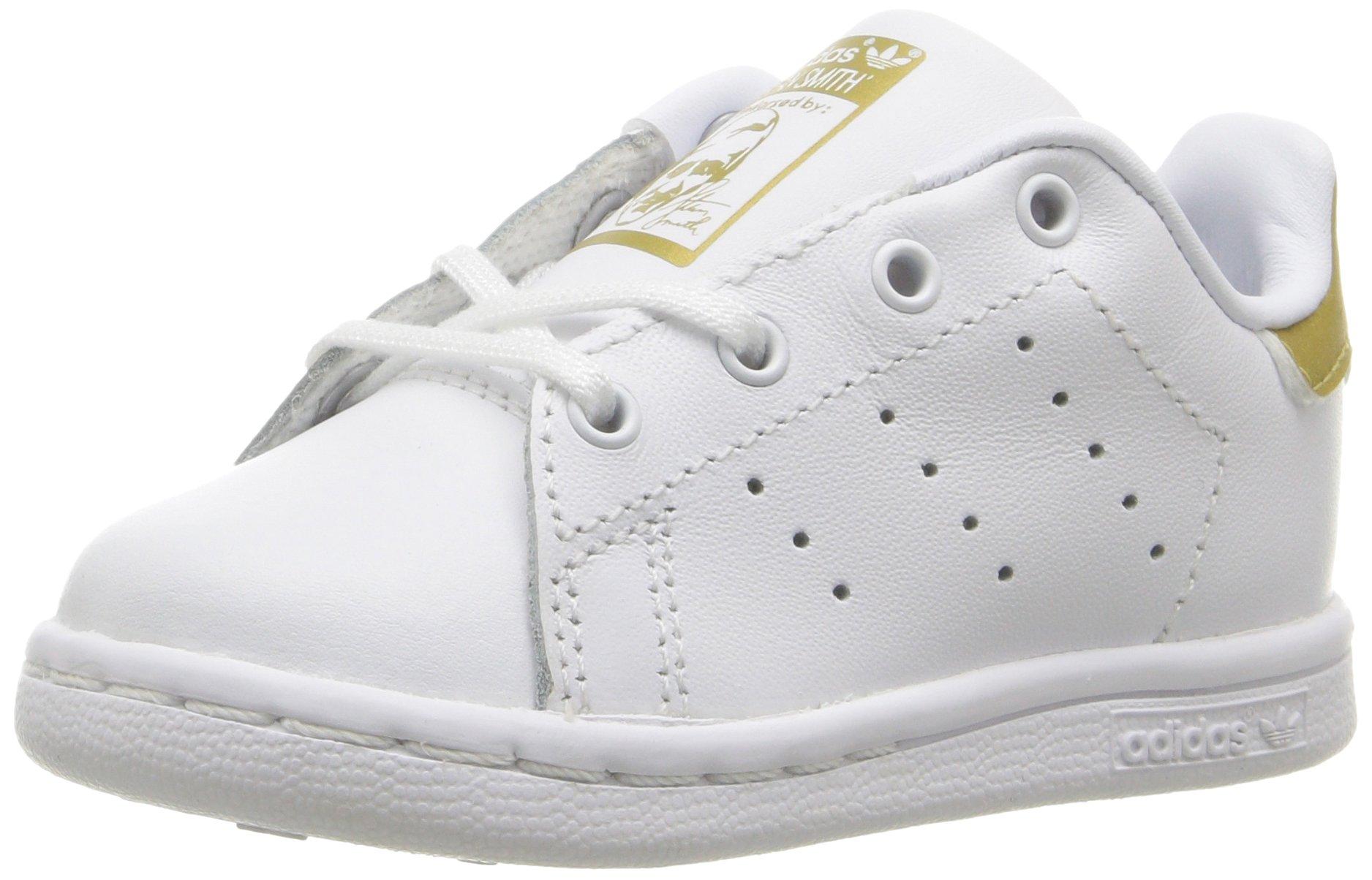 online store f510f 5827b adidas Originals Baby Stan Smith Sneaker, Footwear White Gold Metallic, 7K