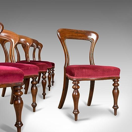 London Fine Antiques Seis sillas de Comedor Antiguas, 4+2 ...
