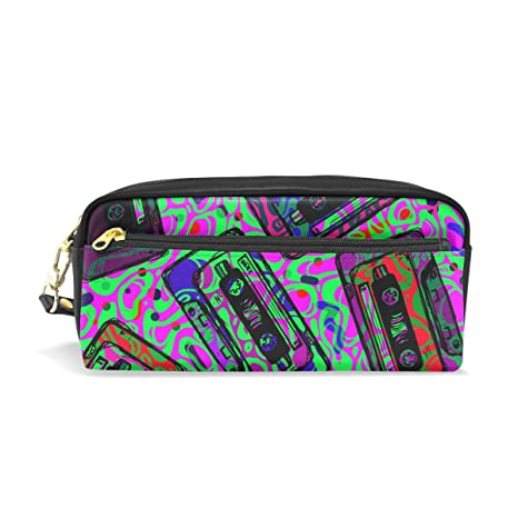 Amazon.com   WIHVE Graffiti Cassette Tapes Students Pen Pencil Stationery  Pouch Bag Case Women Cosmetic Makeup Bag   Office Products 48848769ccd50