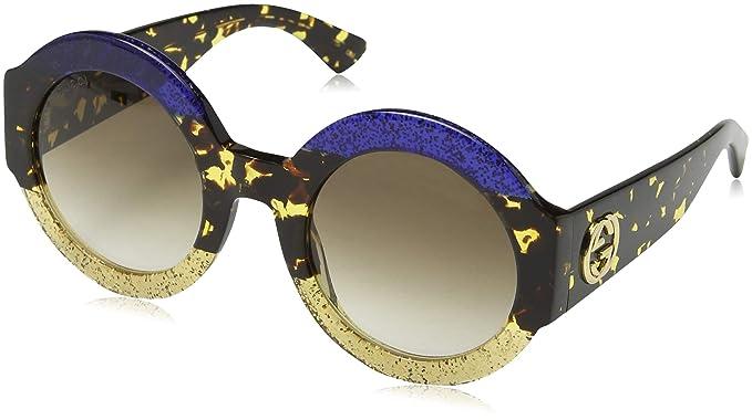 Gucci GG0084S 002, Gafas de Sol para Mujer, Azul (Bluee/Brown)