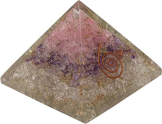 Tree of Life Superwave Extra Large Orgone Pyramid Multistone Crystal Reiki Energy Generator EMF Protection Meditation Healing