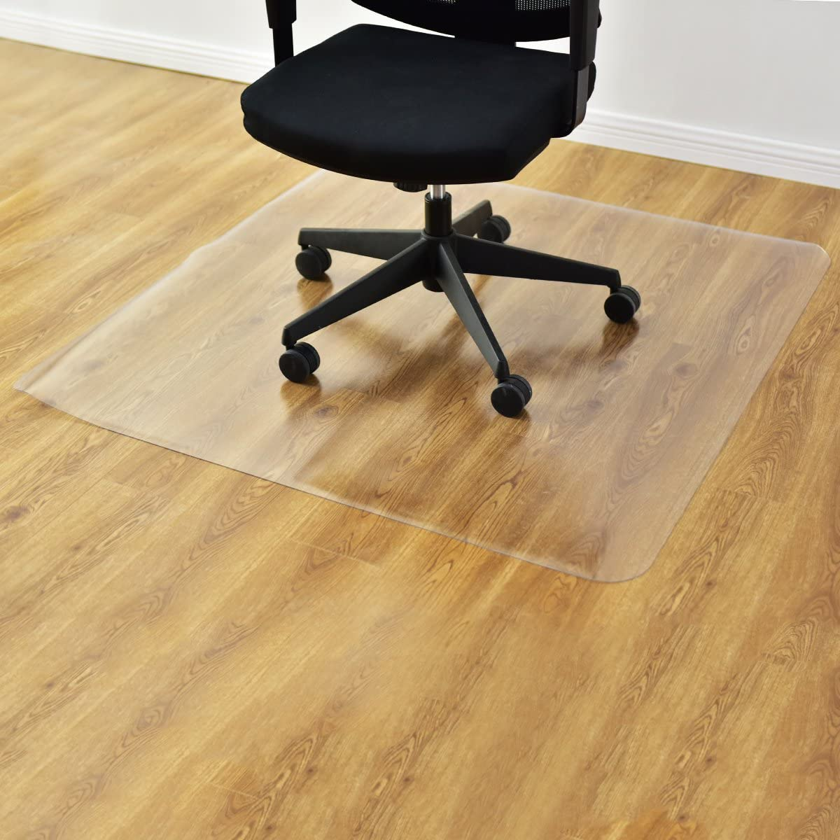 GOFLAME Desk Chair Floor Mat for Hardwood Floor, PVC Plastic Clear Mat Oversized, Premium Quality Floor Protection Mat Heavy Duty, Thick and Sturdy (Clear)