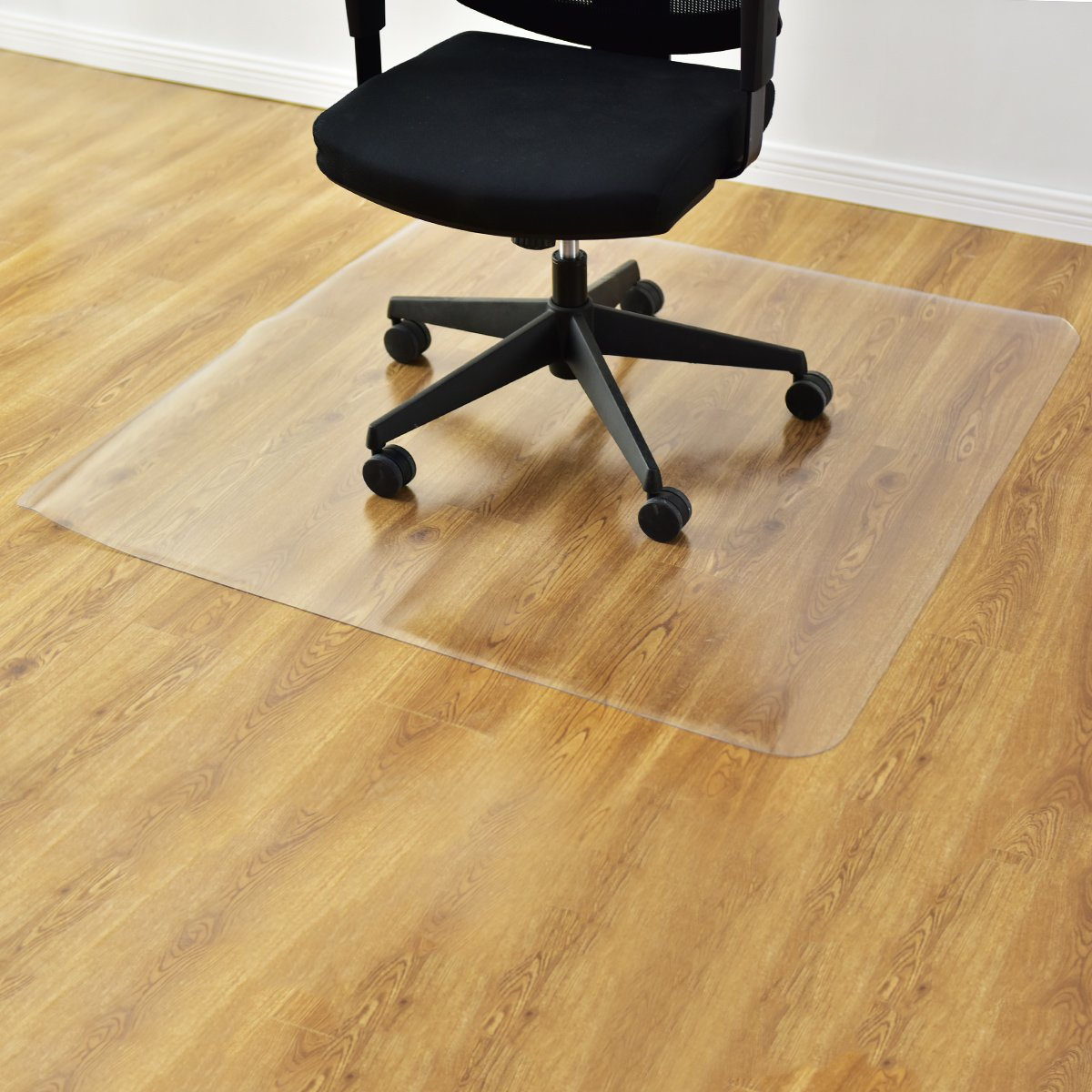 GOFLAME Desk Chair Floor Mat for Hardwood Floor, PVC Plastic Clear Mat Oversized, Premium Quality Floor Protection Mat Heavy Duty, Thick and Sturdy (Clear) by GOFLAME