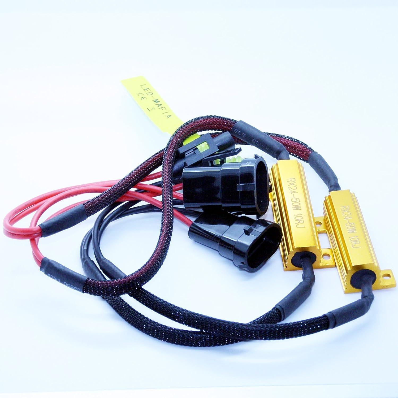 2x H8 H11 Lastwiderstände 50 Watt 10 Ohm Led Widerstand Widerstände Keine Fehlermeldung Auto
