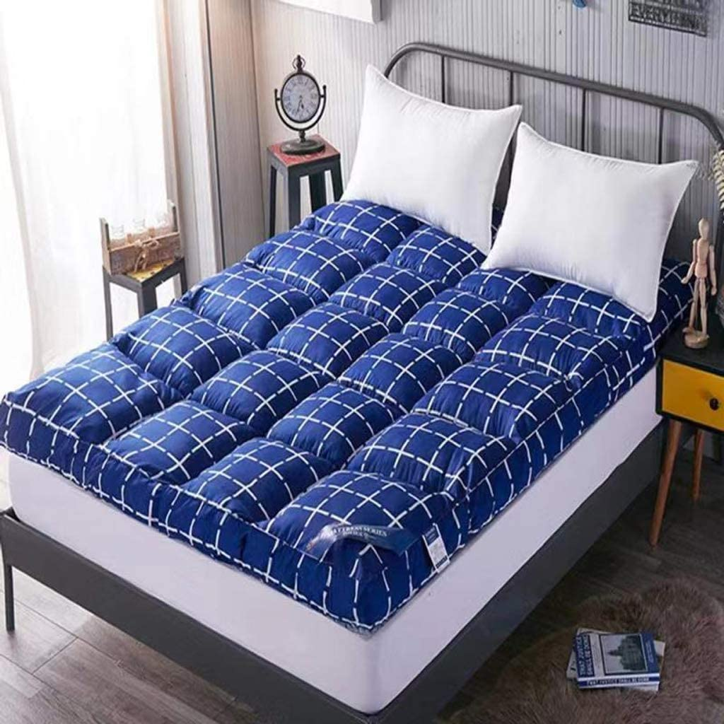 Futon Mattress,Tatami Mattress,Comfort Portable,Mattress Ground Floor Sleeping Pad Folding Mat Lazy Bed for Dorm Room Bedroom Guest Color : Small Goal, Size : 35x78.7in