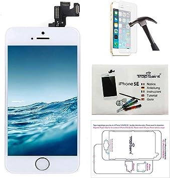 Trop Saint Pantalla Completa Compatible con iPhone SE Blanco ...