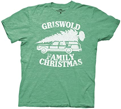 bf67391c3 National Lampoon Griswold Family Christmas Vacation Heather Green Mens T- shirt (XXL , Green