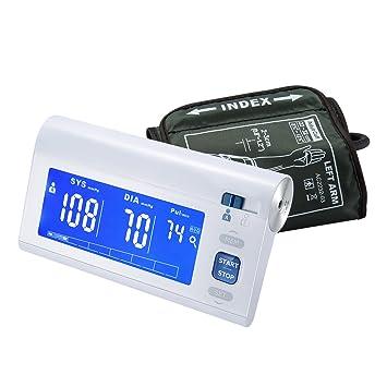Aoeatop - Monitor de presión arterial automático con brazo superior y detector de latidos irregulares con