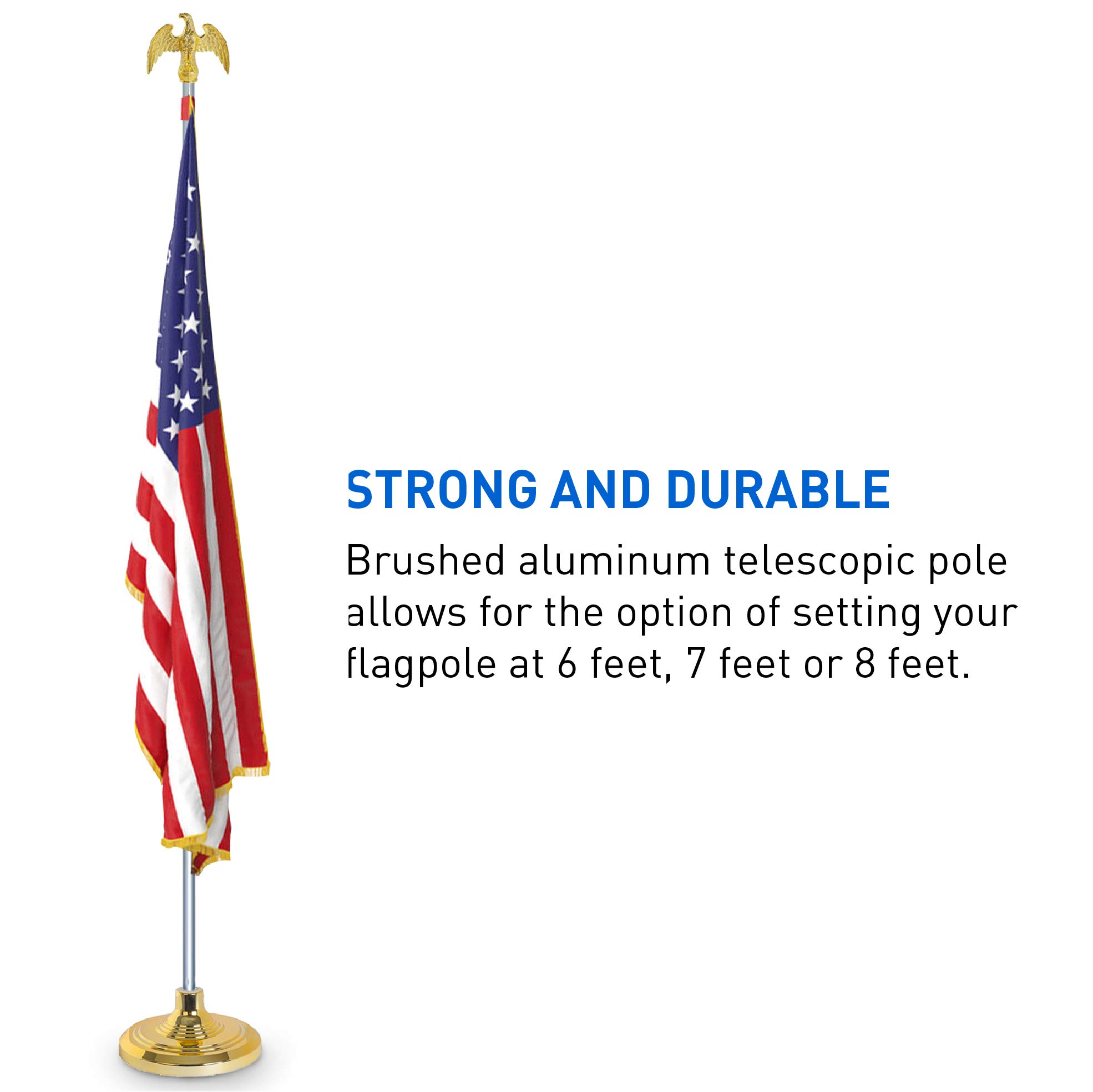EasyGoProducts EGP-POLE-006 3' X 5' American w/Indoor Pole Kit-with Flag by EasyGoProducts (Image #5)