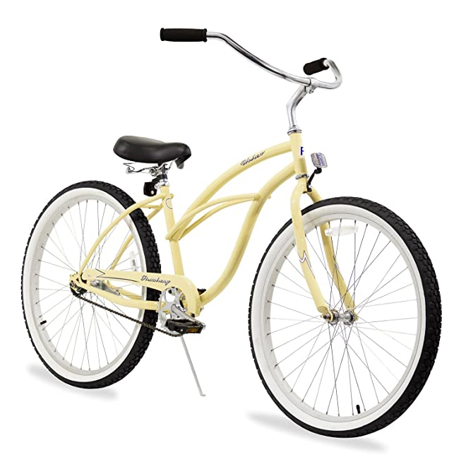 Firmstrong Urban Lady Beach Cruiser Bicycle with Vanilla Color