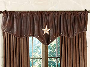 BLACK FOREST DECOR Starlight Trails Chocolate Star Valance