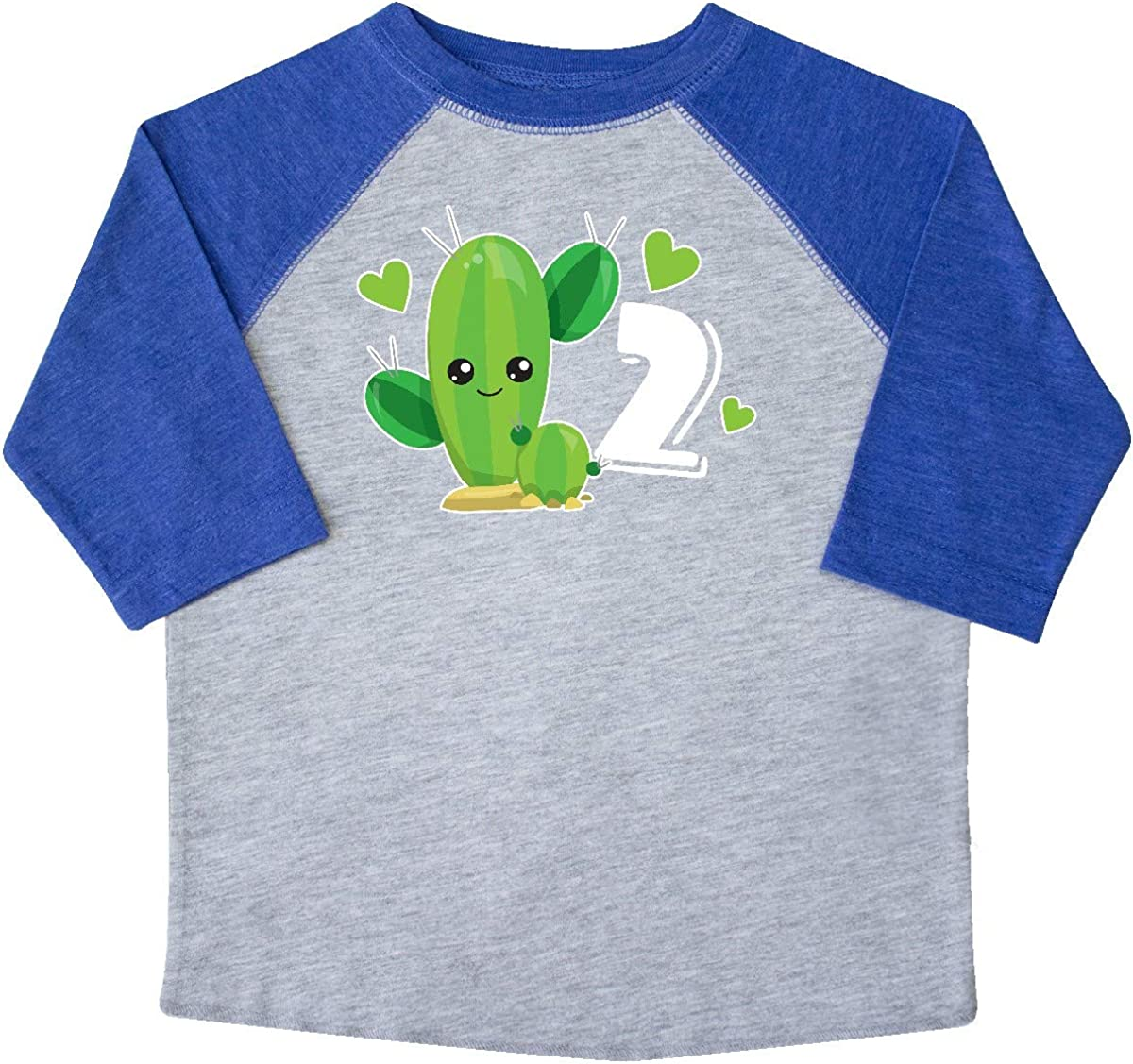 inktastic Im 2 with Cute Cactus and Hearts Toddler T-Shirt