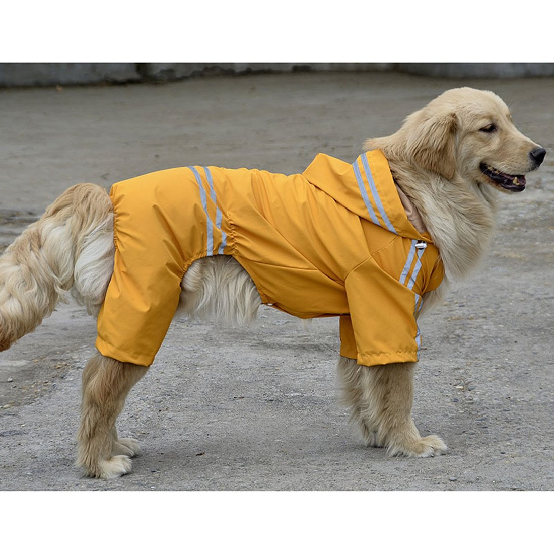 VICTORIE Pet Impermeable Poncho Rain Cover Jacket Rainwear Clothes Reflective Ligero Impermeable para Large Medium Small Dog Rojo 6XL