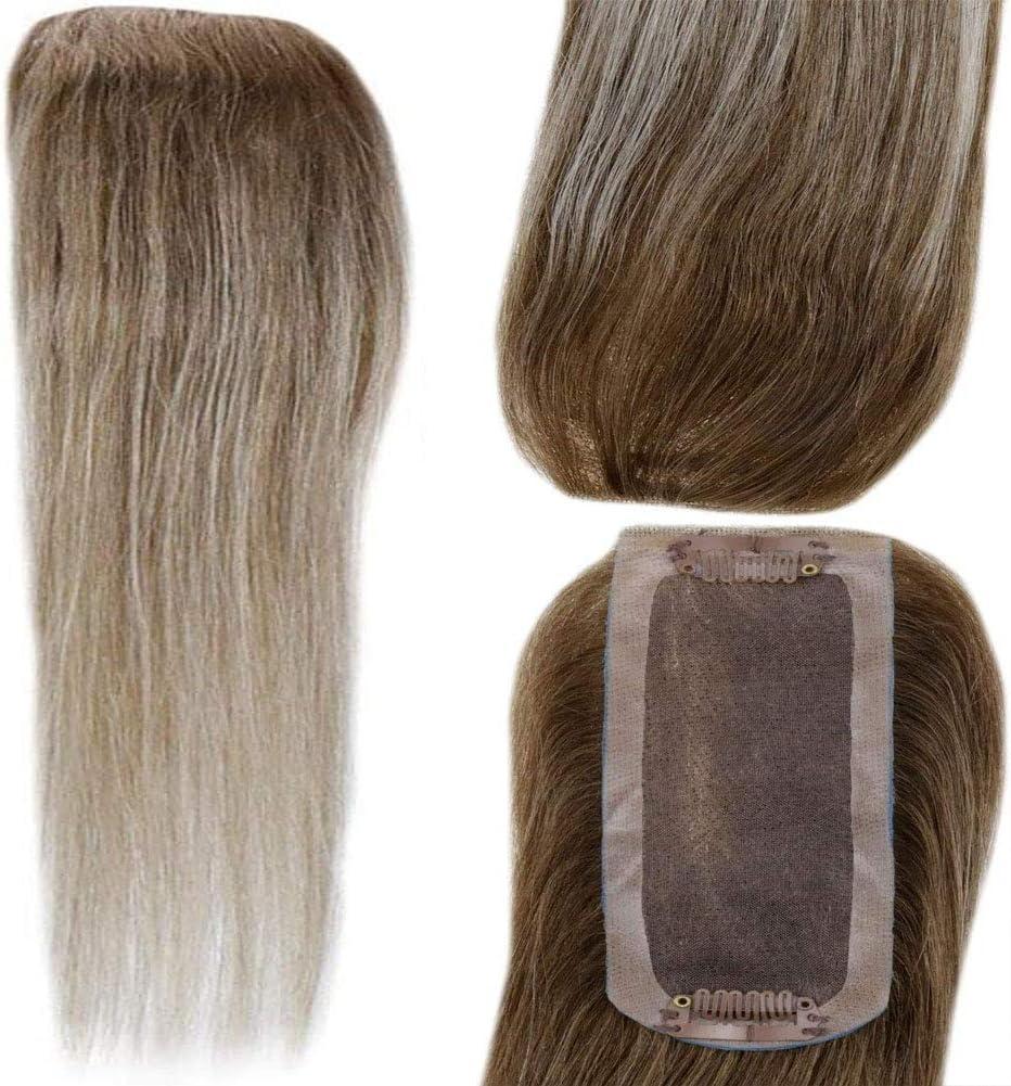 LaaVoo 16 Pulgadas Hair Topper #8/60/8 Balayage Marrón Ligero ...