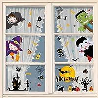 heekpek Halloween venster stickers vleermuizen spin stickers klampt zich vast spin herbruikbare stickers Halloween vinyl…