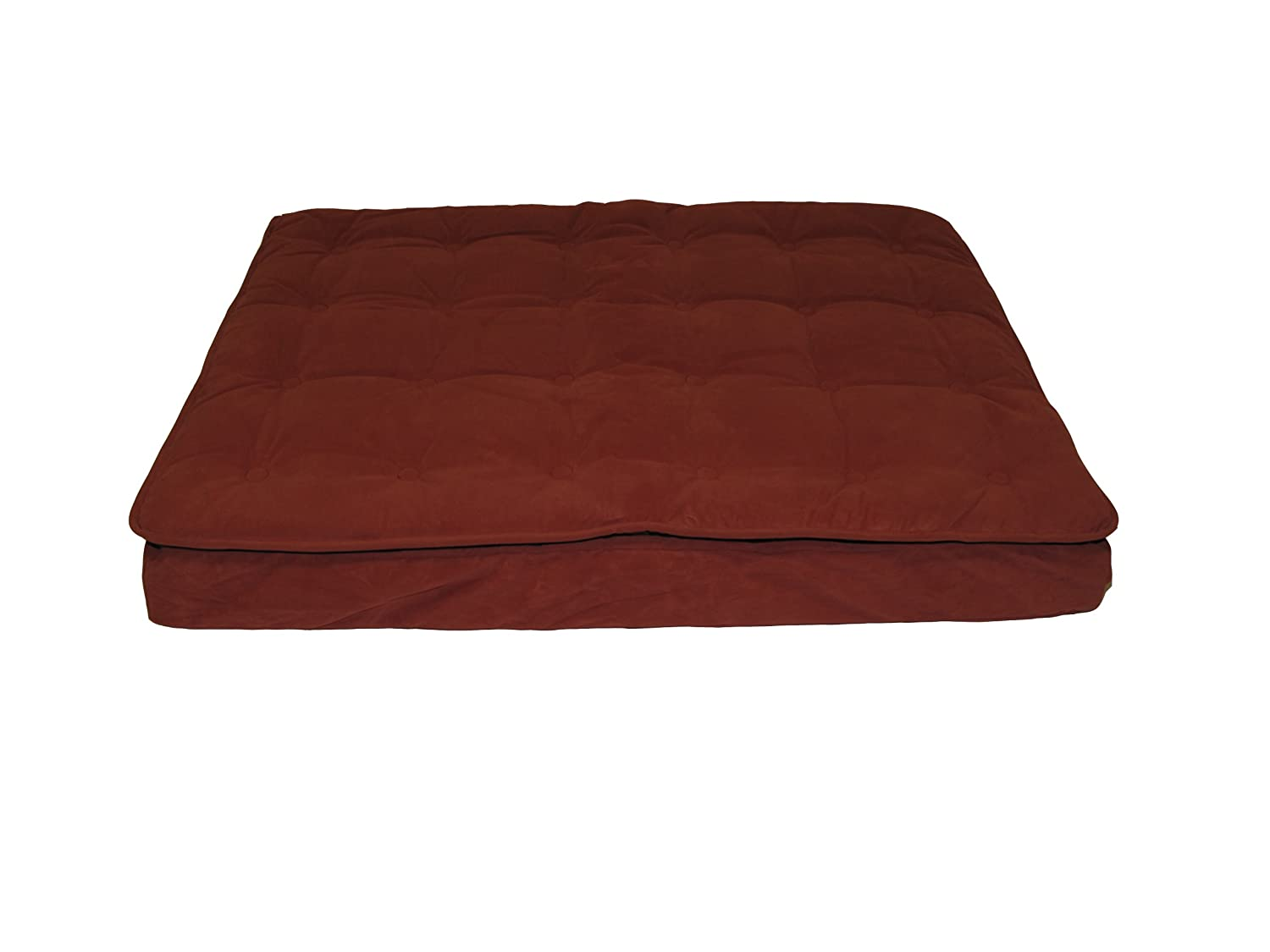 Earth Red 30 by 42 by 4 Earth Red 30 by 42 by 4 CPC Luxury Pillow Large Top Mattress Pet Bed, Earth Red