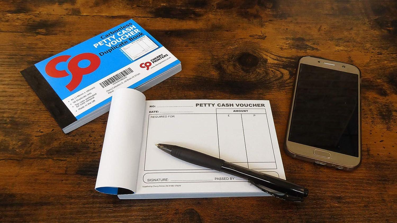 4/unidades Cherry Duplicador NCR Petty Cash Cheque duplicado libros a6/50/juegos