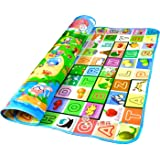 MW MALL India Baby Waterproof Double Sided Play Mat Activity Foam Floor Soft Kid Educational Toy Crawl Blanket/Ocean Zoo Carpet (Multicolor, 6 x 4 Feet)