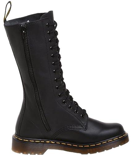 968a9e9940b Dr Martens Vonda Black Red 14 eyelets Leather Womens Boots -6  Amazon.fr   Chaussures et Sacs