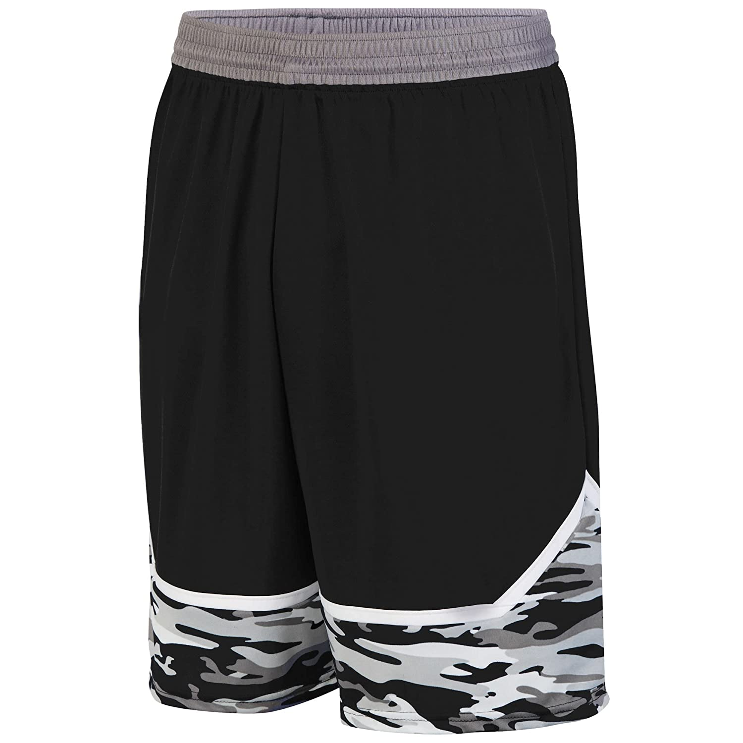 Augusta Sportswear Boys' Mod Camo Game Short L Black/Graphite/White Augusta Drop Ship 1118