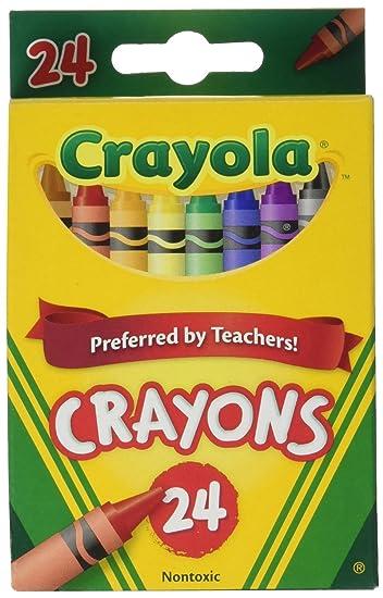 amazon com crayola crayons 24 count 52 3024 case of 12 packs