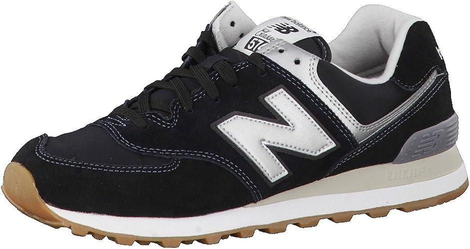 scarpe 574 new balance uomo nero