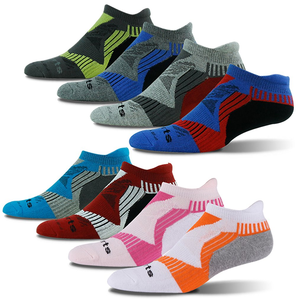 Athletic Socks Youth, HAPYCEO Boys Girls Sweat Absorbing Arch Support Heel Tab High Performance Sports Jogging Running Socks 4 Pairs Large by HAPYCEO