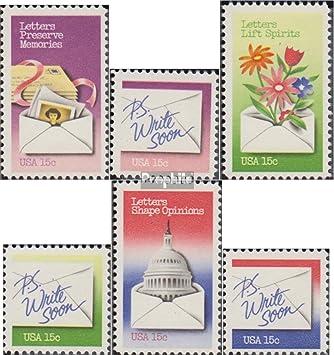 Prophila Collection EEUU Michel.-No..: 1421-1426 (Completa.edición.) 1980 Nacionales Cartas Semana (Sellos para los coleccionistas): Amazon.es: Juguetes y juegos