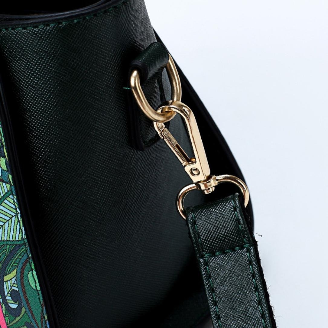SanCanSn Crossbody Bags, Women Forest Girls Pattern Printing Single Shoulder Bag Handle Zipper Handbag (1PC, Green) by SanCanSn (Image #8)