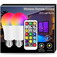 Deals on 2-Pack JandCase 10W Color Changing Light Bulb, A19 E26