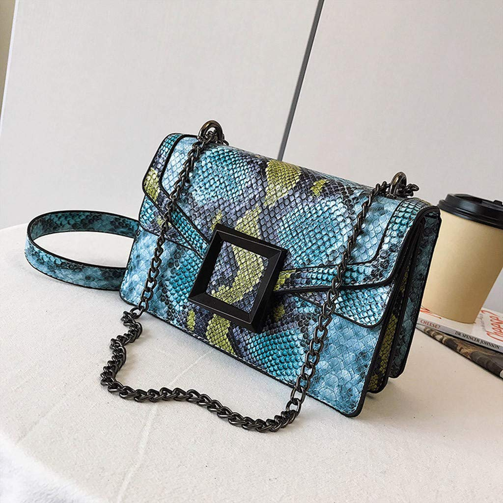 11077e53bb87 Amazon.com: Mozziee WomensMessenger Bags,Snake Print Shoulder Bag ...
